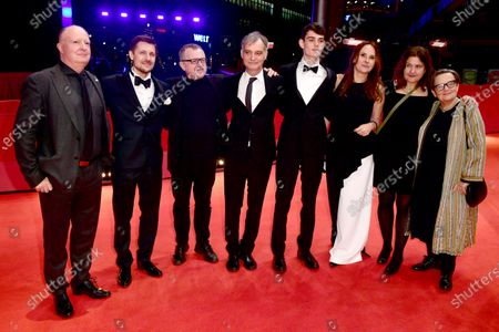 Kevan Van Thompson, Juraj Loj, Mike Downey, Ivan Trojan, Josef Trojan, Sarka Cimbalova, Sam Taylor and Agnieszka Holland arrive for the premiere of 'Charlatan' during the 70th annual Berlin International Film Festival (Berlinale), in Berlin, Germany, 27 February 2020. The movie is presented in the Berlinale Special section at the Berlinale that runs from 20 February to 01 March 2020.