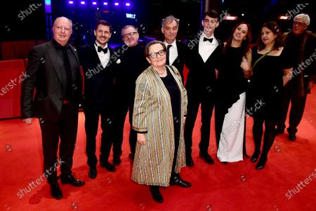 Kevan Van Thompson, Juraj Loj, Mike Downey, Ivan Trojan, Agnieszka Holland, Josef Trojan, Sarka Cimbalova and Sam Taylor arrive for the premiere of 'Charlatan' during the 70th annual Berlin International Film Festival (Berlinale), in Berlin, Germany, 27 February 2020. The movie is presented in the Berlinale Special section at the Berlinale that runs from 20 February to 01 March 2020.