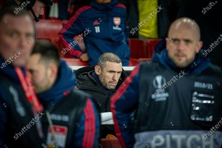 Ex-Arsenal defender Martin Keown during the Europa League match between Arsenal and Olympiacos at the Emirates Stadium, London