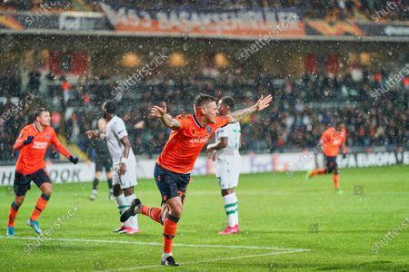 Martin Skrtel of Istanbul Basaksehir FK celebrating scoring his sides first goal during Istanbul BaÅYakÅYehir and Sporting CP on BaÅYakÅYehir Fatih Terim Stadium, Istanbul, Turkey