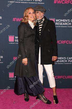 Stock Image of Maria Bello and Dominique Crenn