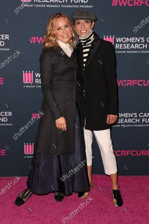 Stock Picture of Maria Bello and Dominique Crenn