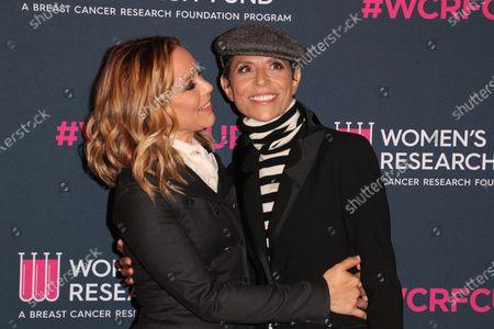Stock Photo of Maria Bello and Dominique Crenn