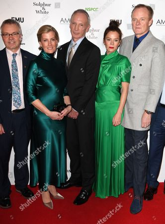 Sophie Countess of Wessex, David Tait, Anna Friel and Alistair Petrie