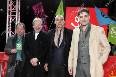 Stock Image of Thorsten Merten, Michael Wittenborn, Sebastian Blomberg and Johannes Naber  arrive for a premiere during the 70th annual Berlin International Film Festival (Berlinale), in Berlin, Germany, 27 February 2020. The movie is presented in the Berlinale Special section at the Berlinale that runs from 20 February to 01 March 2020.