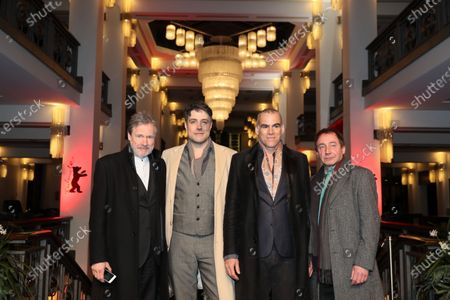 Michael Wittenborn, Johannes Naber,  Sebastian Blomberg and Thorsten Merten arrive for a premiere during the 70th annual Berlin International Film Festival (Berlinale), in Berlin, Germany, 27 February 2020. The movie is presented in the Berlinale Special section at the Berlinale that runs from 20 February to 01 March 2020.