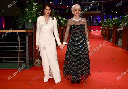 Helen Mirren (R) and German actress Iris Berben arrive for the Honorary Golden Bear gala during the 70th annual Berlin International Film Festival (Berlinale), in Berlin, Germany, 27 February 2020. Helen Mirren will receive this years Honorary Golden Bear at the Berlinale.