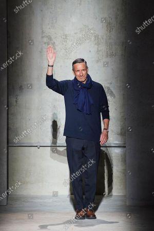 Dries Van Noten on the catwalk