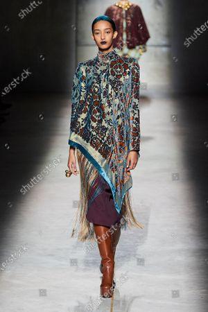 Editorial image of Dries van Noten show, Runway, Fall Winter 2020, Paris Fashion Week, France - 26 Feb 2020