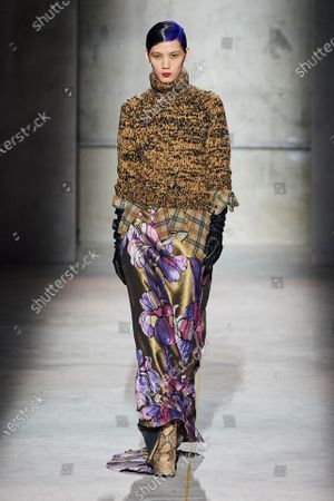 Editorial photo of Dries van Noten show, Runway, Fall Winter 2020, Paris Fashion Week, France - 26 Feb 2020