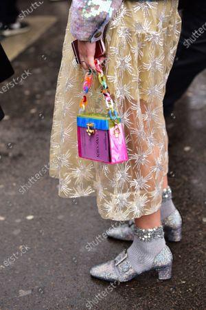 Street Style at Ann Demeulemeester show, Purse detail