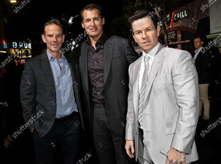 Peter Berg, Scott Stuber and Mark Wahlberg