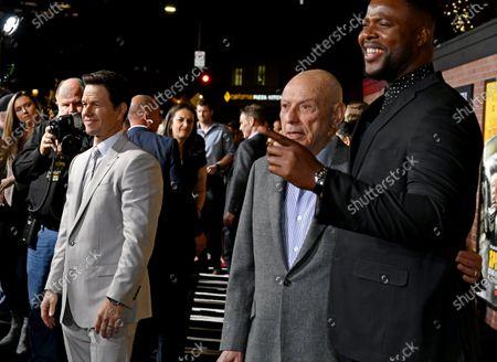 Stock Image of Mark Wahlberg, Alan Arkin and Winston Duke