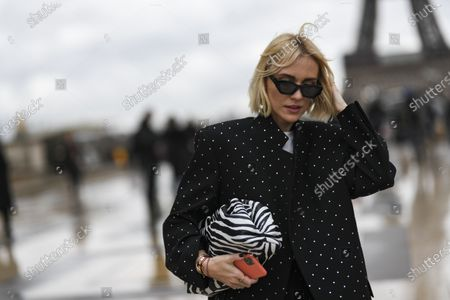 Editorial photo of Street Style, Fall Winter 2020, Paris Fashion Week, France - 27 Feb 2020
