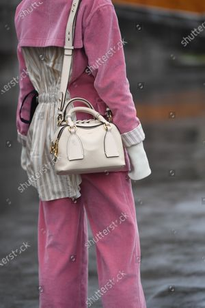 Editorial picture of Street Style, Fall Winter 2020, Paris Fashion Week, France - 27 Feb 2020