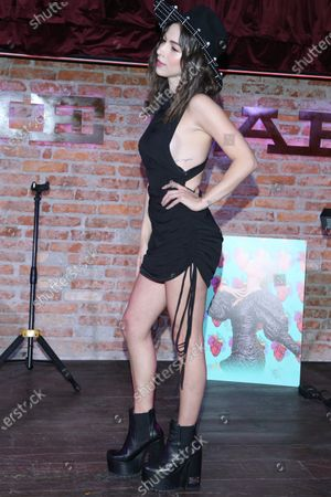 Editorial photo of Paty Cantu in concert at Pinche Gringo BBQ, Mexico City, Mexico - 27 Feb 2020