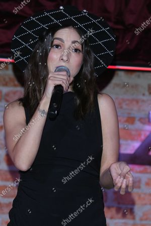 Stock Picture of Singer Paty Cantu performs during the launch of her new single 'Cuando Vuelvas'