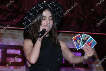 Stock Photo of Singer Paty Cantu performs during the launch of her new single 'Cuando Vuelvas'