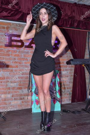 Singer Paty Cantu performs during the launch of her new single 'Cuando Vuelvas'