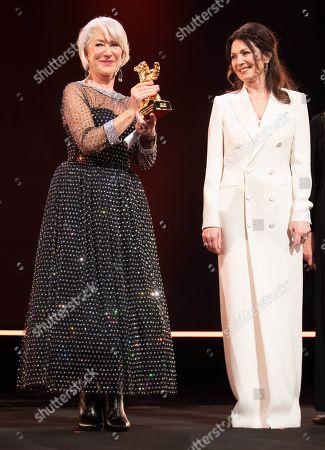 Stock Picture of Helen Mirren and Iris Berben