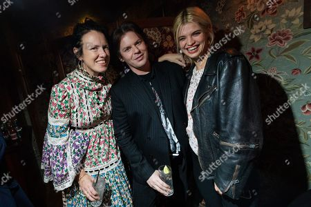 Stock Image of Katie Grand, Christopher Kane and Pixie Geldof