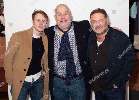 Stock Image of Jamie Borthwick, Cliff Parisi and John Thomson