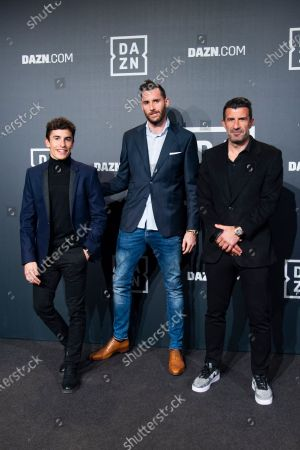 Marc Marquez, Rudy Fernandez and Luis Figo
