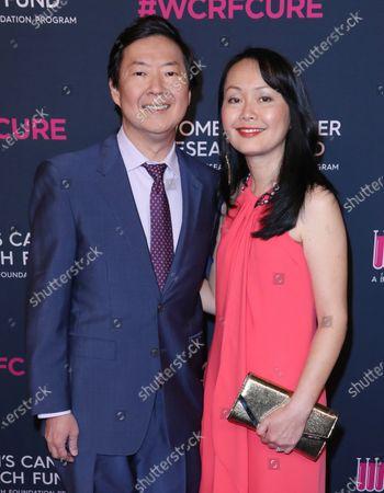 Stock Photo of Ken Jeong and wife Tran Jeong
