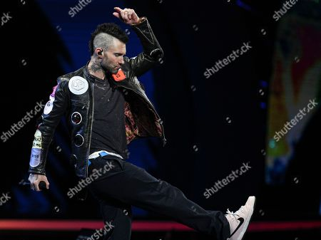Adam Levine of Maroon 5 performs at the Viña del Mar International Song Festival at the Quinta Vergara coliseum in Viña del Mar, Chile