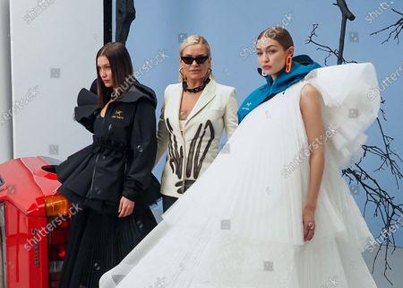 Bella Hadid, Yolanda Hadid and Gigi Hadid