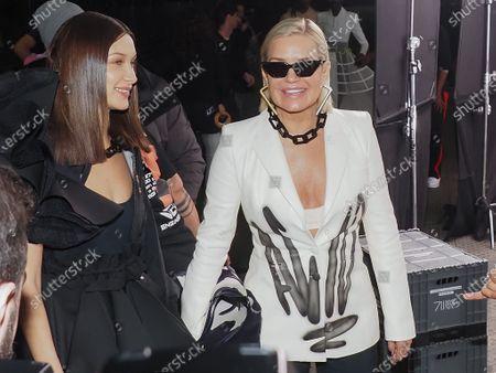 Bella Hadid and Yolanda Hadid