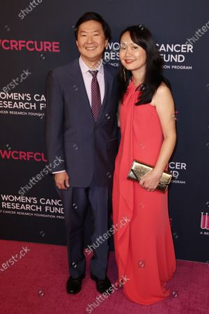 Ken Jeong (L) and his wife Tran attend the Women's Cancer Research Fund gala at the Beverly Wilshire Hotel in Beverly Hills, California, USA, 27 February 2020.