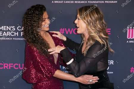 Rita Wilson (R) and US-Brazilian model Camila Alves McConaughey attend the Women's Cancer Research Fund gala at the Beverly Wilshire Hotel in Beverly Hills, California, USA, 27 February 2020.
