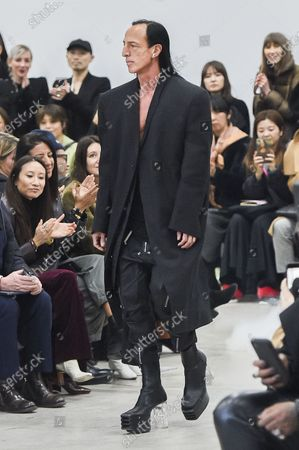Stock Picture of Rick Owens on the catwalk