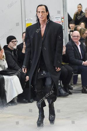Editorial image of Rick Owens show, Runway, Fall Winter 2020, Paris Fashion Week, France - 27 Feb 2020
