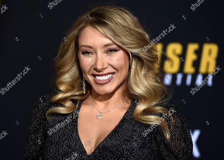 """Stock Photo of Alexandra Vino poses at the world premiere of the film """"Spenser Confidential"""" at the Regency Village Theatre, in Los Angeles"""
