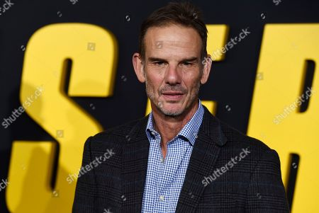 """Peter Berg, director of the Netflix film """"Spenser Confidential,"""" poses at the premiere of the film at the Regency Village Theatre, in Los Angeles"""