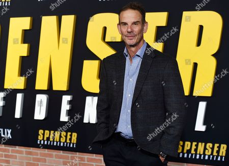 """Peter Berg, director of the Netflix film """"Spenser Confidential,"""" poses at the world premiere of the film at the Regency Village Theatre, in Los Angeles"""