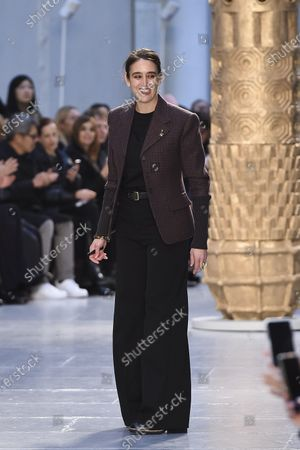Stock Image of Designer Natacha Ramsay-Levi on the catwalk