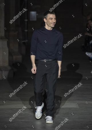 Stock Picture of Julien Dossena on the catwalk