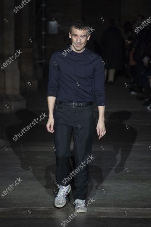 Stock Photo of Julien Dossena on the catwalk
