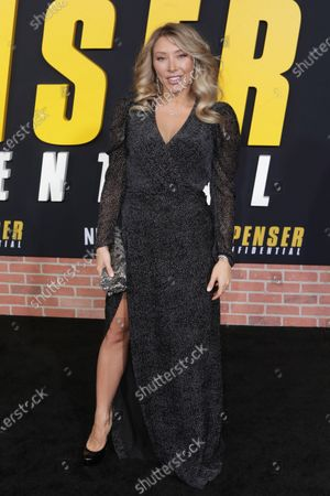 Stock Image of Alexandra Vino arrives at the premiere of the Netflix film Spenser Confidential, at the Regency Village Theater in Los Angeles, California, USA, 27 February 2020.