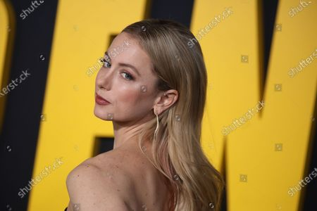 Iliza Shlesinger arrives at the premiere of the Netflix film Spenser Confidential, at the Regency Village Theater in Los Angeles, California, USA, 27 February 2020.