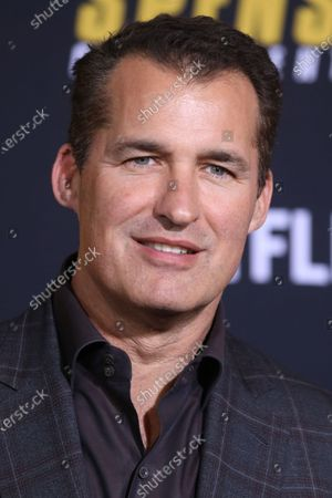 Scott Stuber arrives at the premiere of the Netflix film Spenser Confidential, at the Regency Village Theater in Los Angeles, California, USA, 27 February 2020.