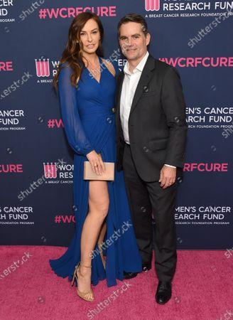 Stock Photo of Jeff Gordon and Ingrid Vandebosch
