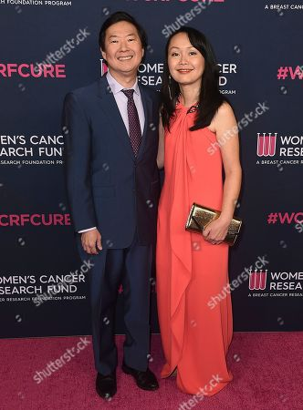 Ken Jeong, Tran Jeong. Ken Jeong and Tran Jeong attend the 2020 An Unforgettable Evening at Beverly Wilshire on in Beverly Hills, Calif