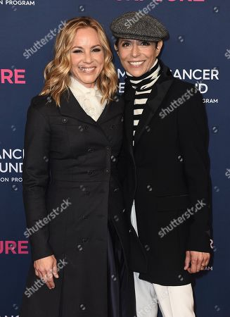 Maria Bello, Dominique Crenn. Maria Bello and Dominique Crenn attend the 2020 An Unforgettable Evening at Beverly Wilshire on in Beverly Hills, Calif