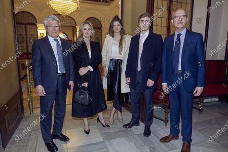 Enrique Cerezo, Genovesa Casanova, Amina y Luis Martinez de Irujo Casanova