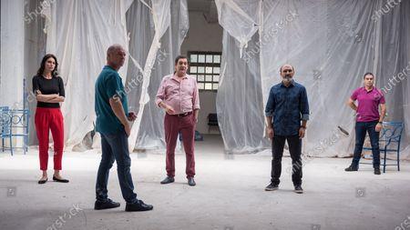 Stock Photo of Catrinel Menghia as Gilda, Vlad Ivanov as Cristi and Agusti Villaronga as Paco