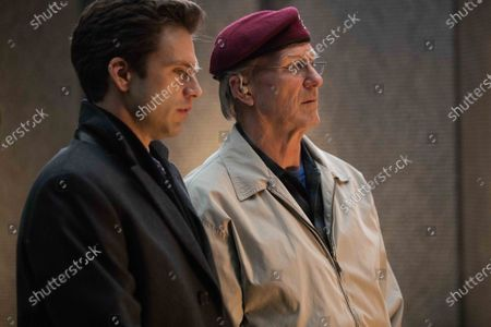 Sebastian Stan as Scott Huffman and William Hurt as Tulley